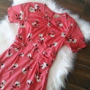 Asos River Island Floral Vintage Inspired Dress